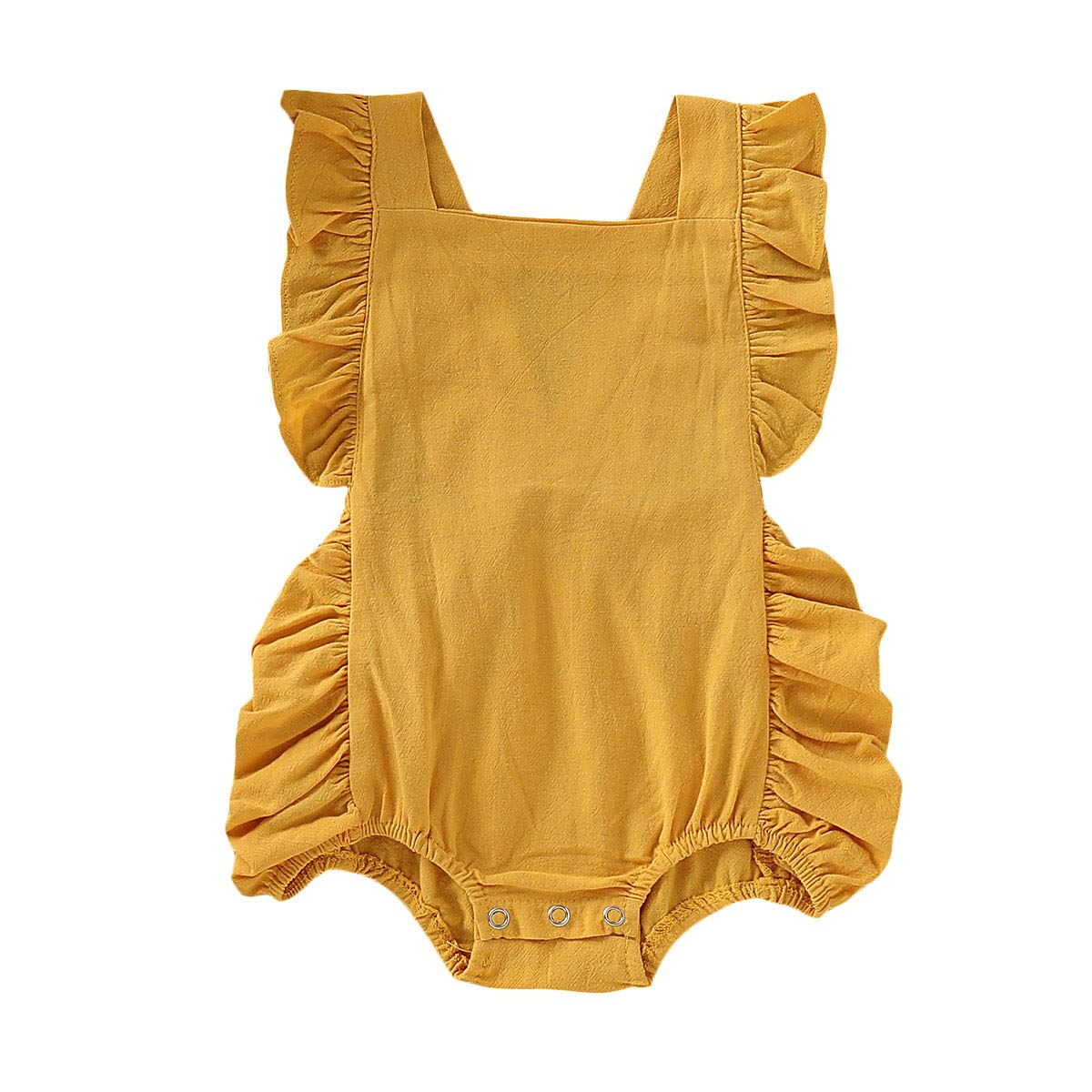 Willow Dance Newborn Baby Girl Bodysuits Cotton Ruffle Flutter Sleeve Romper One-Piece Outfits Clothes