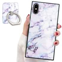Marble Square Phone Case iPhone Xs Max Retro Elegant Design Phone Cover Square Soft TPU Case for iPhone Xs Max