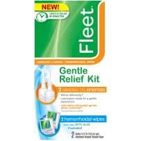 Fleet Laxative Gentle Relief Kit | 2 Mineral Oil Enemas + 2 Hemorrhoidal Wipes