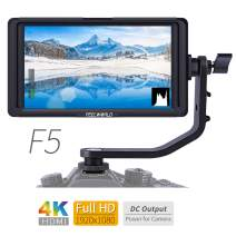 FEELWORLD F5 5 Inch 4K HDMI IPS 1920x1080 High Resolution On-Camera Field Monitor with Histogram, Focus Assist, False Color, Zebra Exposure, Check Field, Pixel to Pixel for DSLR Camera