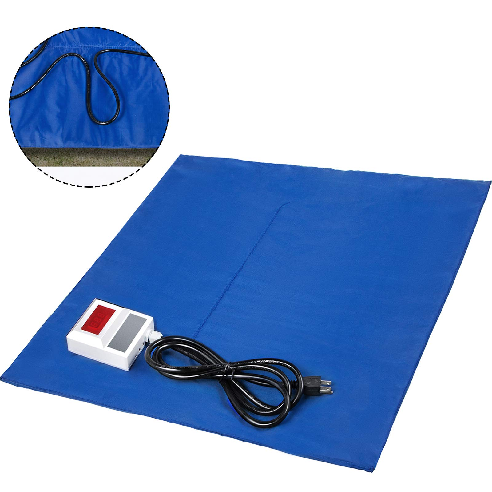 Bestauto Concrete Blanket Electric Concrete Curing Blanket Rapid Thaw Ground Thawing Blanket, Power Blanket Density Blanket Insulated Concrete Heater, 4' x 5' Finished Dimensions for Concrete Ground