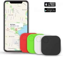 Kimfly Key Finder Item Finder Smart Tracker, Phone Finder, Bluetooth Tracker with Replaceable Battery- 4Pack
