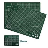 Beileshi 2 Pack Cutting Mat for Silhouette Cameo Healing Rotary Sewing Cutting for Craft Fabric Scrapbooking Grip Self Double Sided Crafts Sewing Quilting A4(8.3 x 11.8 inch)