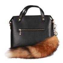 URSFUR Canadian Red Fox Tail Fur Key Chain Tassel Bag Charm Pendant Keychain
