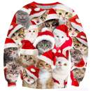 UNICOMIDEA Ugly Christmas Sweatshirt Stylish 3D Novelty Xmas Santa Sweater Pullover Jumpers for Holidays S-3XL