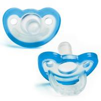 RaZbaby JollyPop Baby Pacifier Plus, 3m+, Blue, Double Pack