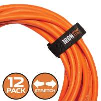 Extension Cord Wrap Organizer, 12 Pack of Elastic Storage Straps - 6 Inch Stretchy Hook and Loop Cinch Straps for Power Cables, Hoses, Ropes, and More