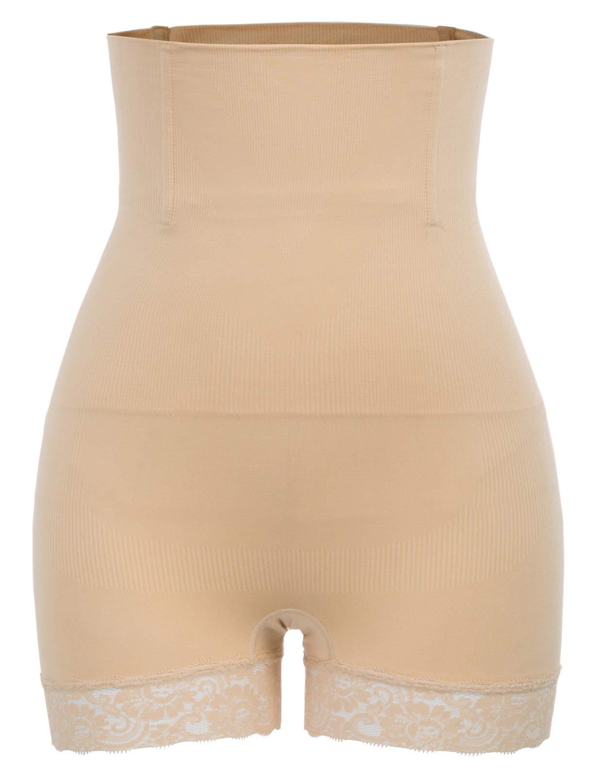 Zexxxy Women Body Shaper High Waist Butt Tummy Control Body Shaper Panty Slim Waist Trainer