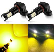 AUXLIGHT 9006 LED Fog Light DRL Bulbs, 2400 Lumens Extremely BrightHB4 9006LL 9006XS Bulbs Replacement for Cars, Trucks, Golden Yellow