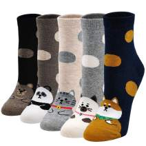 Women Sock Cute Animal Funny Novelty Ankle Dog Cat Girls Ladies Gift Socks