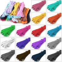 Color Elastic Bands for Sewing, 16 Colors 1/8 Inch Braided Elastic String/Elastic Rope/Elastic Cord for Sewing Masks, Adult Crafts DIY Projects