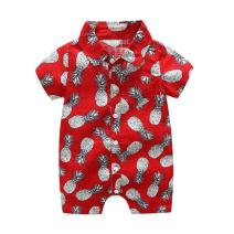 Weixinbuy Toddler Baby Boys Onesies Summer Casual Outfits Hawaiian Style Floral One-Piece Romper
