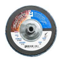 "Mercer Industries 273H036 Zirconia Flap Disc, Type 27, 7"" x 5/8"" 11 Thread, Grit 36, 10 Pack"