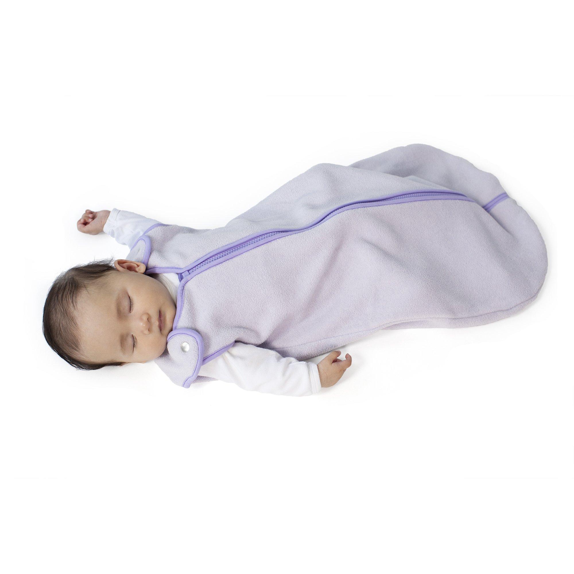 Sleep nest Fleece Baby Sleeping Bag, Lavender, Large (18-36 Months)