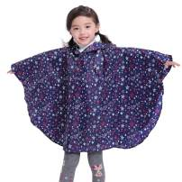 Spmor Kids Rain Poncho Hooded Jacket Rain Coat