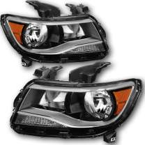JSBOYAT For 2015 2016 2017 Chevy Colorado Pickup Truck Headlight Assembly Replacement Headlamps Pair Driver and Passenger Side