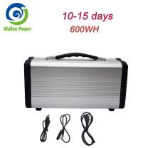 600W Portable Power Station Solar Generator Camping Potable Generator, CPAP Battery Recharged by Solar Panel/Wall Outlet/Car, 110V AC Out/DC 12V /QC USB Ports for CPAP Camp Travel