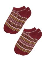 uxcell Women Novelty Prints Low Cut Ankle Length Short Socks 2 Pack Sock Size9-11