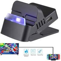 Switch Dock for Nintendo Switch Docking Station Replacement Nintendo Switch Base Dock Set Switch Charger Charging Dock Portable Switch Type-C Hub HDMI Adapter Support 1080P Output TV Mode-Plug Play