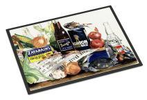 Caroline's Treasures 1002MAT Barq's, Crabs, and Spices Indoor or Outdoor Mat 18x27 Doormat, 18H X 27W, Multicolor