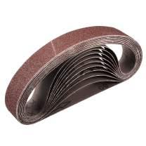 uxcell 1 x 21 Inch 60 Grit Sanding Belt Aluminum Oxide Sand Belts for Belt Sander 10pcs