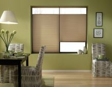 Windowsandgarden Cordless Top Down Bottom Up Cellular Honeycomb Shades, 26W x 46H, Antique Linen, Any Size 18-72 Wide