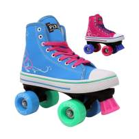 Lenexa Roller Skates for Girls Pixie Kid's Quad Roller Skates with High Top Shoe Style for Indoor/Outdoor Skating | Durable, Easy to Skate, Made for Kids