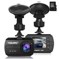 """Dash Cam - TOGUARD Mini Dash Camera for Cars HD 1080P Wide Angle 1.5"""" LCD with G-Sensor Loop Recording Motion Detection (32GB Card Included)"""