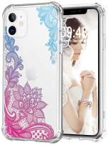 Audimi Case for iPhone 11 Flower Lace Pattern Hard PC+TPU Shockproof Bumper Protective Cover Back Case for iPhone 11 6.1 Inch (Colorful Lace)