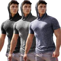 COOFANDY Men's Gym Workout Hoodies Quick Dry Bodybuilding Muscle Fit Hoodied