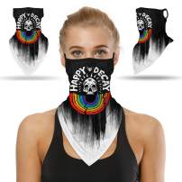 PORPOR BOOYA Bandanas for Face Scarf Mask Ear Loops Stylish Face Rave Men Women Neck Gaiters for Dust Wind Motorcycle Mask