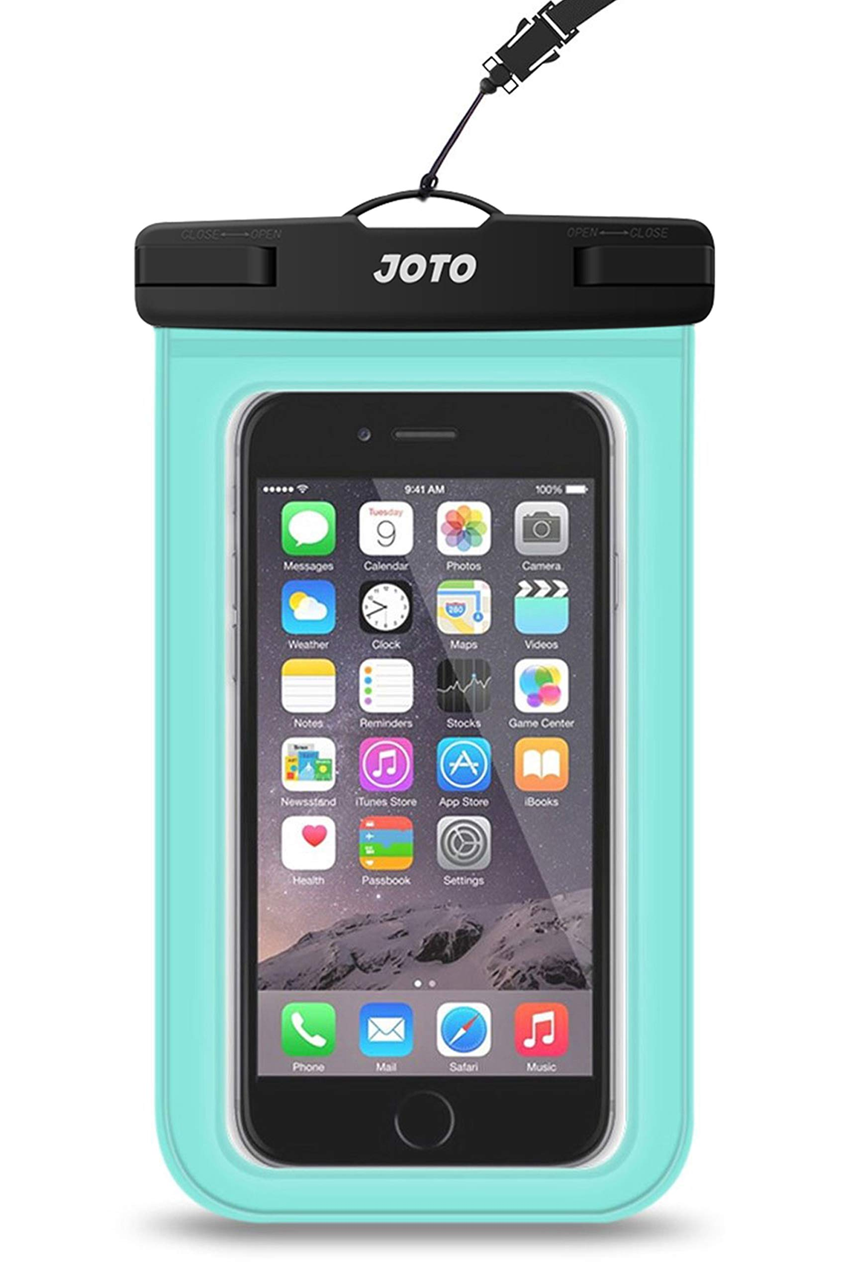 """JOTO Universal Waterproof Pouch Cellphone Dry Bag Case for iPhone 11 Pro Max Xs Max XR X 8 7 6S Plus SE 2020, Galaxy S20 Ultra S20+ S10 Plus S10e S9 Plus S8/Note 10+ 9, Pixel 4 XL up to 6.9"""" -Green"""