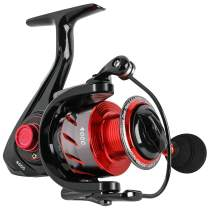 Sougayilang Spinning Reels Fishing Reel with 13 +1 Corrosion Resistant Ball Bearings, Light Weight and Ultra Smooth Powerful Spinning Fishing Reels(red)