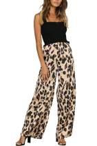 Women's Irregular Leopard Print Midi Bodycon Pencil Skirt Stretchy Elastic Waist