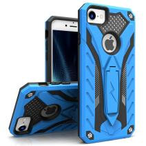ZIZO Static Series for iPhone 8 Case Military Grade Drop Tested with Built in Kickstand iPhone 7 iPhone 6s Case Blue Black