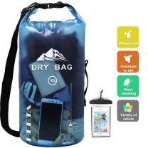 HEETA Waterproof Dry Bag for Women Men, 5L/ 10L/ 20L/ 30L Roll Top Lightweight Dry Storage Bag Backpack with Phone Case for Travel, Swimming, Boating, Kayaking, Camping and Beach, 9 Colors