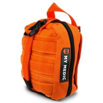 My Medic MyFak First Aid Kit - Water Resistant Bag, Bandages, Burn Aids, CPR Shield, Survival First Aid Kit, Airway, Tourniquet, Stainless Steel Instruments - Advanced - Orange