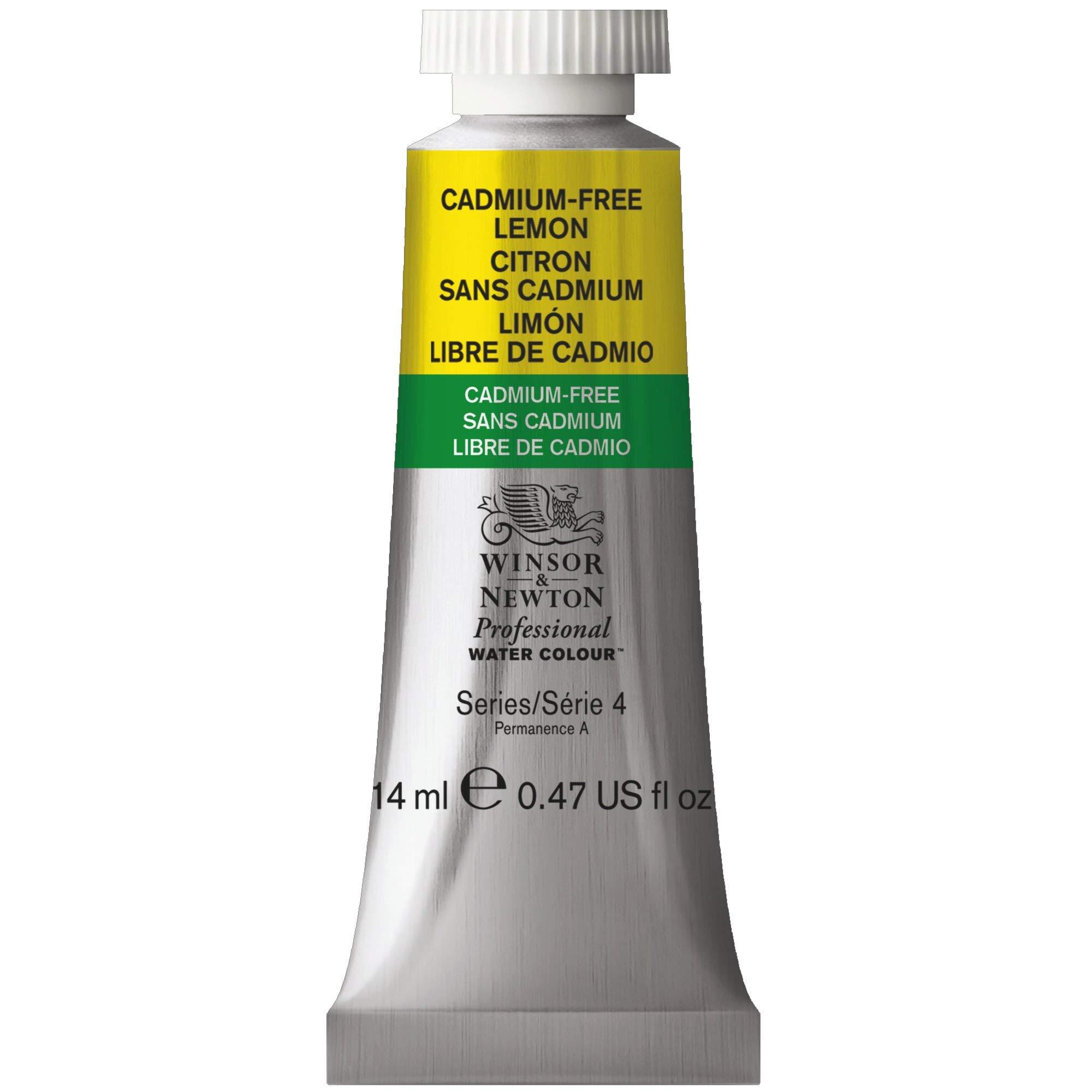 Winsor & Newton Professional Water Colour Paint, 14ml tube, Cadmium-Free Lemon
