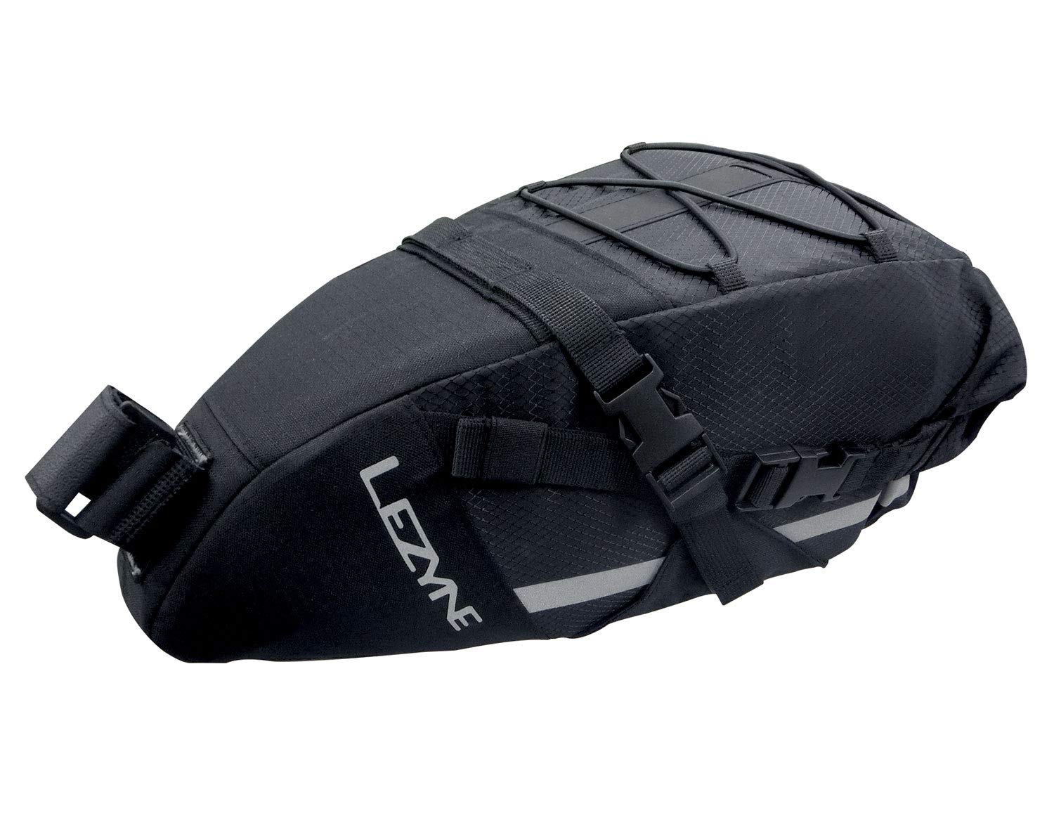 LEZYNE XL Bicycle Caddy Saddle Bag, Extra Large, Securely Mounts to Seat Post, Durable, Light Mounts, Water Resistant, Large Bike Caddy Bag