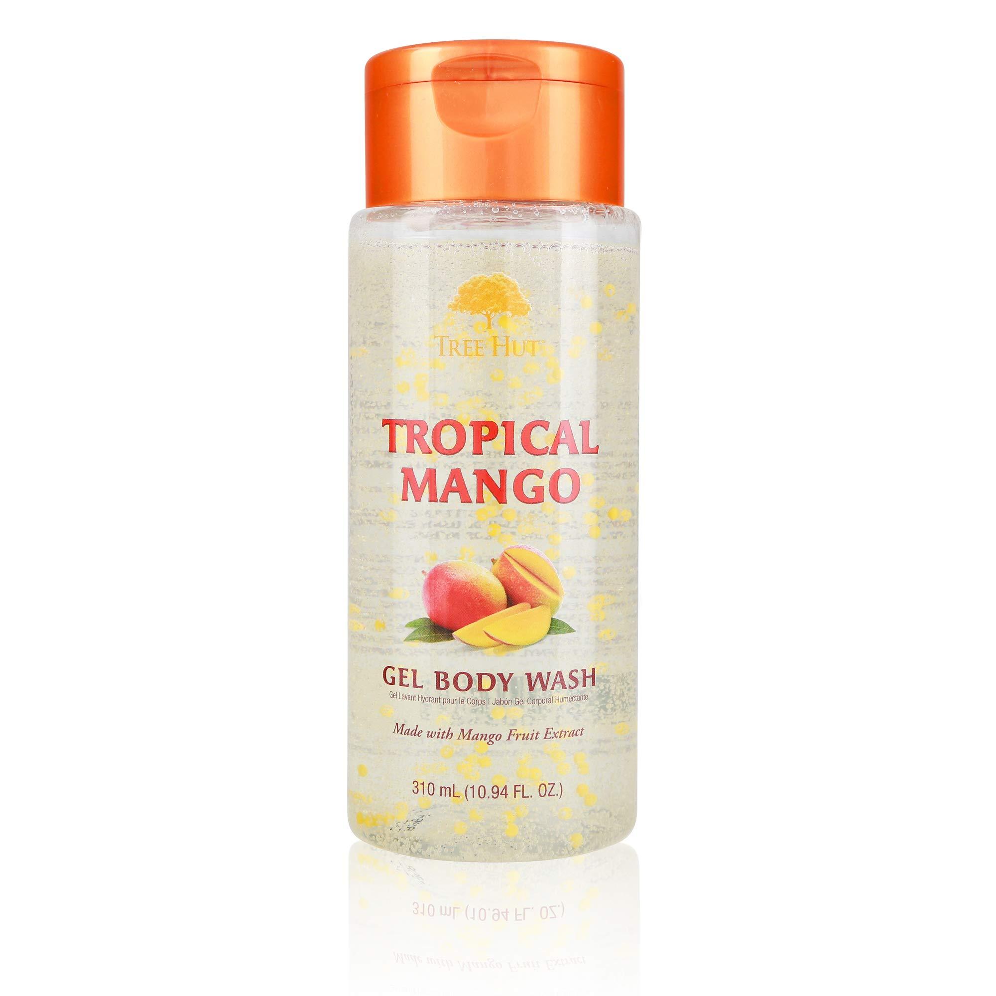 Tree Hut Moisturizing Gel Body Wash Tropical Mango, 10.94oz, Ultra Hydrating Gel Body Wash for Nourishing Essential Body Care