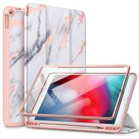 """SURITCH Case for iPad Air 3 2019/iPad Pro 2017, [Built in Screen Protector] [Auto Sleep/Wake] [Pencil Holder] Lightweight Leather Case Flip Cover with Stand for iPad Air 3/iPad Pro 10.5""""(Gold Marble)"""