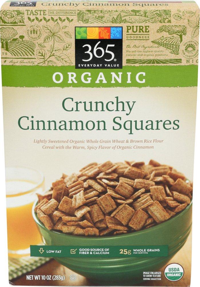 365 Everyday Value, Organic Crunchy Cinnamon Squares, 10 oz