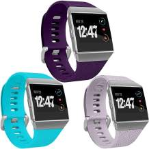 Wepro Bands Compatible with Fitbit Ionic SmartWatch, Watch Replacement Sport Strap for Fitbit Ionic Smart Watch, 3 Pack, Large, Small