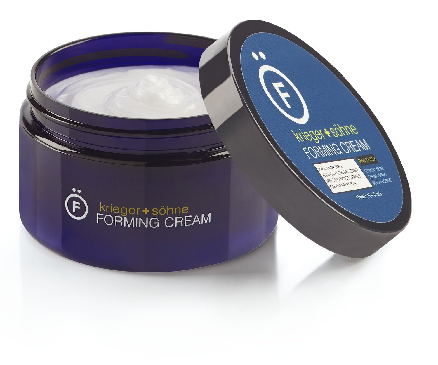 Premium Forming Cream For Men - 4oz jar - K+S Salon Quality Hair Care Products for Long & Short Hair – Natural Matte Finish & Medium Hold - Large 4oz Size