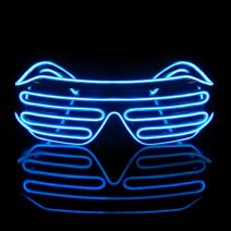 Led Light Up Neon Shutter Party Glasses for Parties Decorations(Blue)