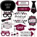 Big Dot of Happiness Maroon Grad - Best is Yet to Come - Burgundy 2020 Graduation Party Photo Booth Props Kit - 20 Count