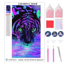 ANMUXI 5D Diamond Painting Kits Full Square Drills for Adults 60X30CM Coloful Tiger Animals Paint with Diamonds Art for Stress-Relief & Home Decor