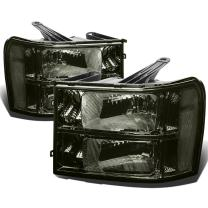 DNA Motoring Smoked clear HL-OH-GMCSIE07-SM-CL1 Headlight Assembly (Driver & Passenger Side)
