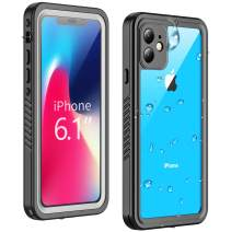 Temdan Waterproof iPhone 11 Case, 360 Full Body Built in Screen Protector Clear Sound Quality Full Sealed Cover Shockproof Dirtproof Outdoor Rugged Waterproof Cases for iPhone 11 6.1 inch 2019 Release