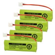 QBLPOWER BT18443 BT28443 Cordless Phone Battery Compatible with VTech BT-18443 BT-28443 LS-6115 LS-6117 LS-6125 LS6126 LS6225 LS6205 LS6217 LS-6205 LS-6215 2.4v 500mAh(4 Pack)